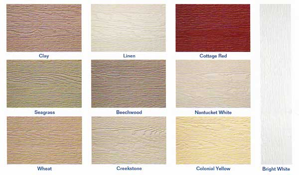 Lp smartside gallery Engineered wood siding colors